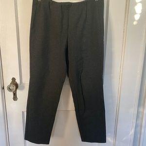 J. Jill ponte slim leg gray pants petite M